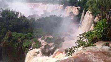 Beautiful Iguazu Falls In Brazil
