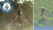 Guiness Record – Man Flies 905 Feet On A Real Hoverboard