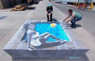 Hollywood Star – 3D Chalk Art