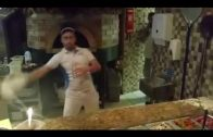 Pizza Flipping Master Shows His Amazing Skills