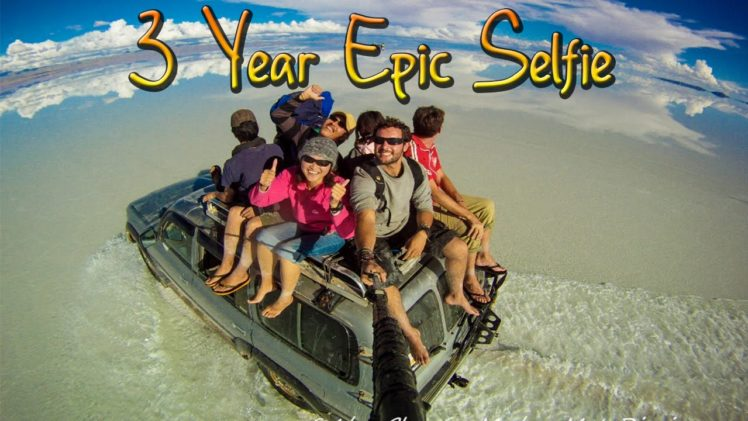 Around the World In 360 Degrees – 3 Year Epic Selfie