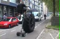 Monster Truck Cycle On The Street