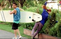 Reckless Surfer Knocks Woman To The Ground (Crazy Prank)