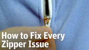 How To Make Your Zipper Work Smoothly
