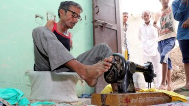 Armless Indian Tailor Makes Clothes