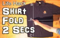 A Trick To Fold A T-Shirt In Just 2 Seconds