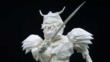 Samurai Origami Art With A Single Piece Of Paper